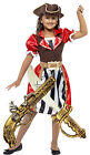 Smiffys Girls Childs Kids Pirate Fancy Dress Costume Outfit Age 4-12 + SWORD GUN