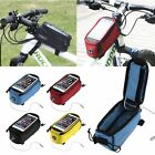 Roswheel Cycling Bicycle Bike Frame Pannier Front Tube Bag Cell Phone Panniers