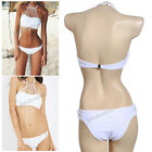 Beach Vintage High Waist Halterneck Top Bikini Set Swimwear Padded Swimsuit