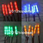 1-10PCS 3528 SMD Red Green Blue White 3LED Strip Light IP65 DC 12V Car Lamp