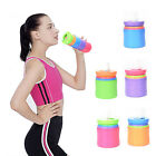 Collapsible 350ml Silicone Water Bottle Handy Cycling Outdoor Sports Juice Cup