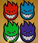 LARGE SPITFIRE WHEELS Skateboard Sticker - Flaming Head Logo - Assorted colours