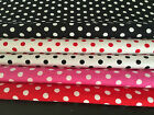 5mm. CLASSIC POLKA DOT CIRCLE SPOT VINTAGE RETRO PRINT 100% Cotton Fabric