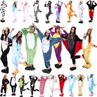 Hot Fancy Dress Cosplay Animal Onesie Adult Unisex Hooded Pyjamas Sleepwear CN