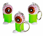Lot Eyeball Spring Key Chain Party Favor Prize Giveaway Keychain Halloween spook