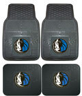 Dallas Mavericks Car Mats 4 Pc Front & Rear Heavy Duty Vinyl