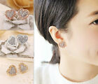 NEW Exquisite Letter Heart Shape Lady Crystal High Quality Studs Earring