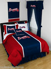 Atlanta Braves Bed in a Bag Curtains & Valance Twin Full Queen King Size