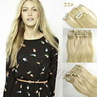 #22 Standard Thick Clip In Full Head Remy Human Hair Extensions16-30inch 7pcs