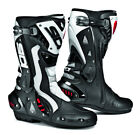 SIDI ST AIR BLACK WHITE HINGED MOTORCYCLE SPORTS BIKE BOOTS SUITABLE FOR RACING