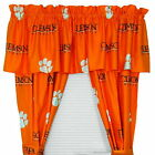 Clemson Tigers Drapes Curtains & Valance Set with Tie Backs