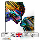 ABSTRACT LOVE KISS COLOURFUL - CANVAS WALL ART FRAMED PRINT PICTURE PHOTO DECOR