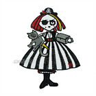 Skull Halloween Witch Girl Cartoon Sew on Iron On Badge Applique Patch Sewing