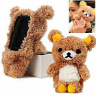 3D Lucky Cute Cool Teddy Bear Doll Toy Plush Cover Case For iPhone & Samsung LG