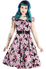 Hearts and Roses (H&R) Rockabilly Retro Pin UP Tamsin Belted Dress Floral