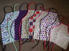 100% COTTON PVC COATED OILCLOTH APRONS 9 DESIGNS 5 SIZES EASY WIPE CLEAN