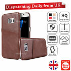 Slim Genuine Leather Wallet Business Card Slot Case Cover For Samsung S7 & LG G5