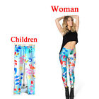 Hot Sexy Mermaid Print Leggings Kids + Woman Pants Parent-child Outfit Printed