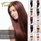 28inch 7pcs Straight Clip in 100% Remy Human Hair Extensions Custom Deluxe Set