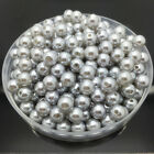 New 4mm 6mm 8mm 10mm DIY Acrylic Round Pearl Spacer Loose Beads Jewelry Making