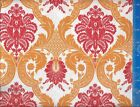 Waverly Damask color Red/Orange Fabric Printed Crafting Quilting Home Decor