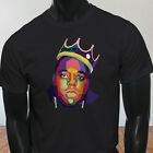 Hip Hop NY Smalls Notorious Big Biggie Legend Art Mens Black T-Shirt