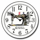 "Sewing Room LARGE WALL CLOCK 10""- 48"" Whisper Quiet Non-Ticking WOOD HANDMADE"