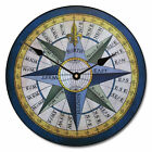 "Compass LARGE WALL CLOCK 10""- 48"" Whisper Quiet Non-Ticking WOOD HANDMADE"