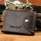 New Genuine Leather Men's Credit Card Holder Wallet Cowhide ID Cash Coin Purse