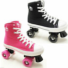 Rookie Canvas Hi Top Boys Girls Junior Retro Lace Up Quad Roller Skates UK Size