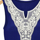 Lace Sexy Womens Casual Ladies Sleeveless Summer V Neck Blouse Tops Vest Shirt O