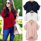 PLUS SIZE Fashion Women Casual Short Sleeve Top Loose Summer T Shirt Tops Blouse