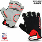 Men Cycling Gloves Half Finger Fingerless Bicycle Cycle Bike Sports All Sizes
