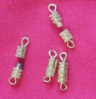Screw Barrel Clasp Gold Colour End Tips - Necklaces Bracelets etc
