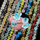 1 Strand 10mm Crystal Glass Square Cube Loose Beads Findings Womens Jewelry M