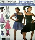 Simplicity Sewing Pattern 4744 Misses Ballroom Leotard Dance Dress Costume