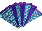 Green floral and purple taffeta single sided bunting wedding garden party