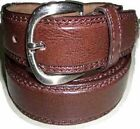 """8212 A BOYS PLAIN BROWN DOUBLE STITCHED LEATHER BELT IN SIZES 18"""" TO 30"""" WAIST"""