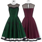 Womens New Plus Size Swing Vintage Housewife Pin Up Dress Causal Picnic Cocktail