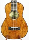 Solid Curly & Spalted Mango Concert Ukulele Attractive Grain BU301-302