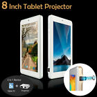 """8"""" HD 16GB Quad Core Android Tablet PC Projector Home Theater WiFi Bluetooth Cam"""