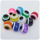 4mm,6mm,8mm,10mm,Mixed Color Evil Eye acrylic Round Loose Beads Jewelry B53B