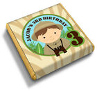 Personalised JUNGLE SAFARI 2nd 3rd 4th 5th Birthday Party Bag Favour Chocolates