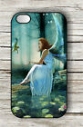 FAIRY AND BIRD IN BLUE MAGIC FOREST CASE FOR iPHONE 4 5 5C 6 -h3c5j