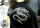 T Shirt Femme Hell Head  Dragon Tribal en STRASS , Mode,  Fashion, Original