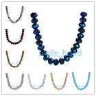 20/50/100Pcs Faceted Rondelle Crystal Bead #5040 Loose Glass Beads Jewelry 10mm