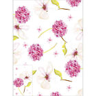 Beautiful Allium Flower Pink glossy gift wrap 2 sheets and 2 tags