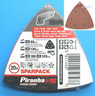 20 B & D 90mm Delta Triangle Sanding Sheets 93mm PMF180E Bosch Sander Multi Tool