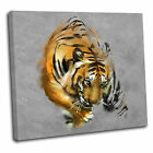 Abstract Painted Tiger Canvas Wall Art Print Framed Picture 7 Gallery Grade
