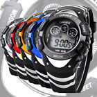 Waterproof OHSEN Men's Digital Date Day Alarm Sport Quartz Rubber Watch 5 Colors